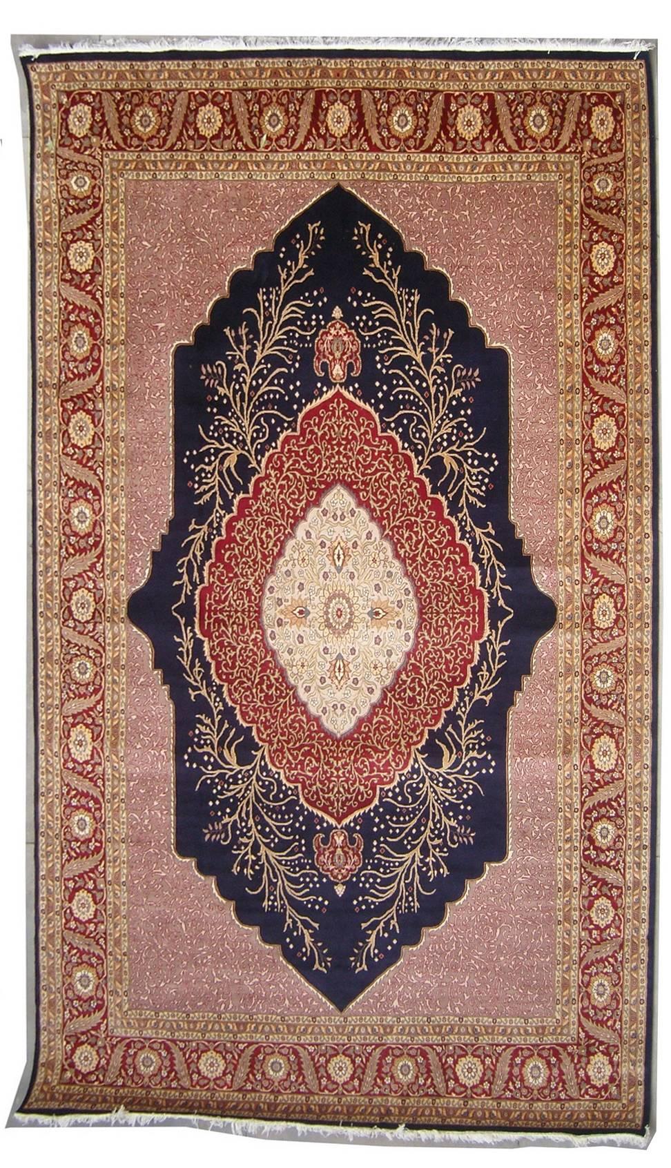 9 39 0x12 39 3 Rug Double Knot Pak Persian Kirman Design