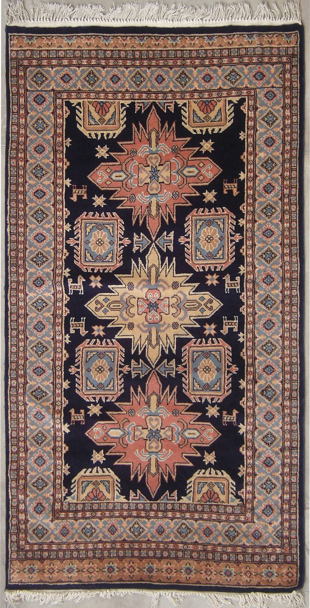 RugsTC 3'11 x 6'4 Caucasian Authentic Hand Knotted Area Rug with Wool Pile - 4x6 Small Rug at Sears.com