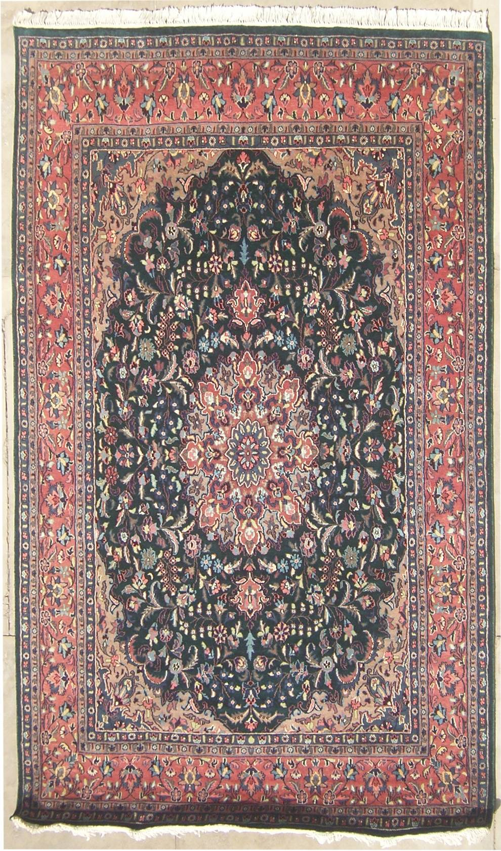 RugsTC 6'0 x 8'11 Double Knot Pak Persian Kashan  Authentic Hand Knotted Area Rug with Silk & Wool Pile - 6x9 Large Rug at Sears.com