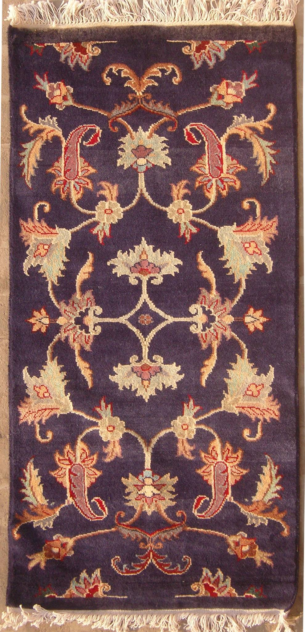 5x4'7 rug - floral - handmade pak persian high quality rugs - a