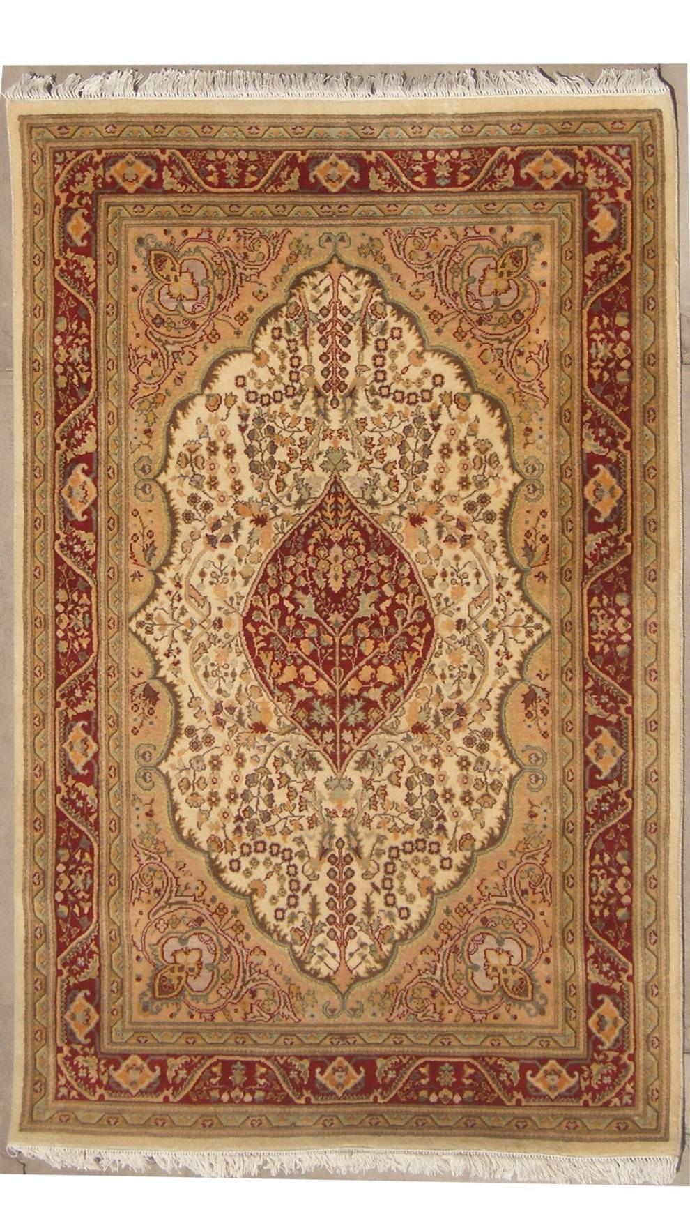 "4'0""x6'1""  Pak Persian Tree of Life Design"