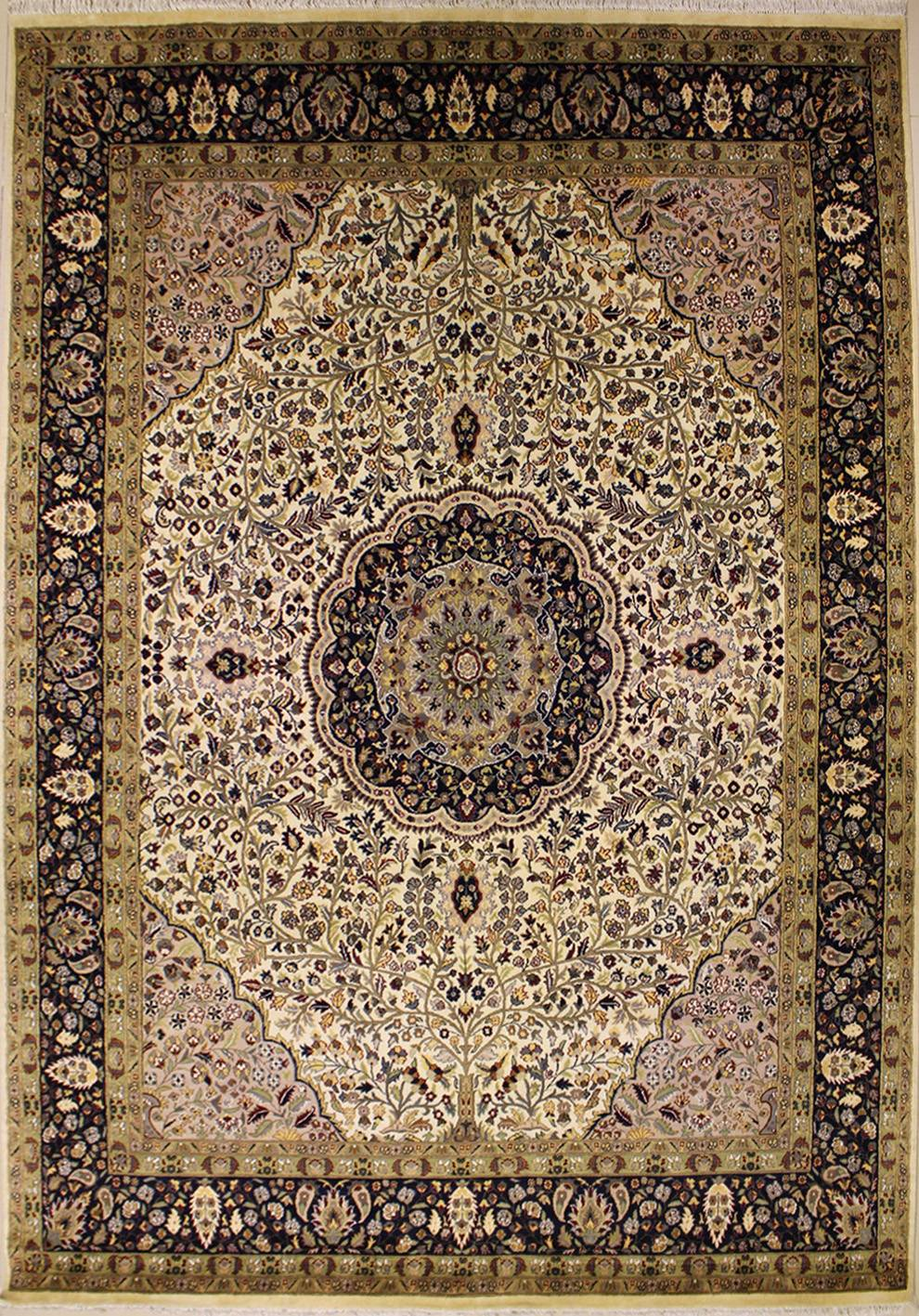 8 39 11x12 39 4 rug floral handmade pak persian high quality