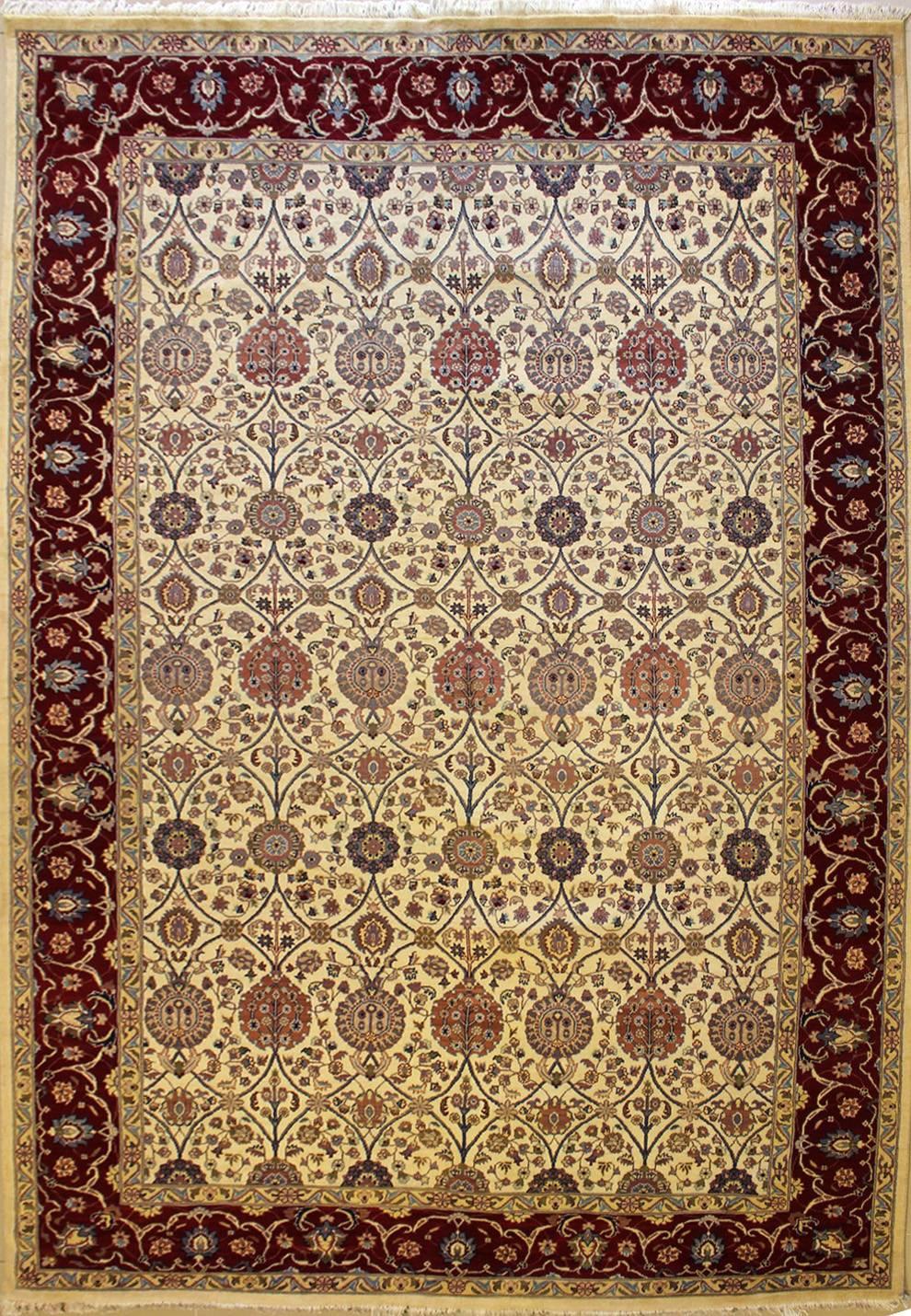 9 39 1x12 39 5 Rug Floral Handmade Pak Persian High Quality