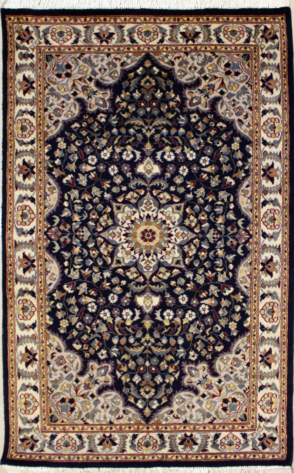 "3'1""x5'2"" Pak Persian Design Blue Color"