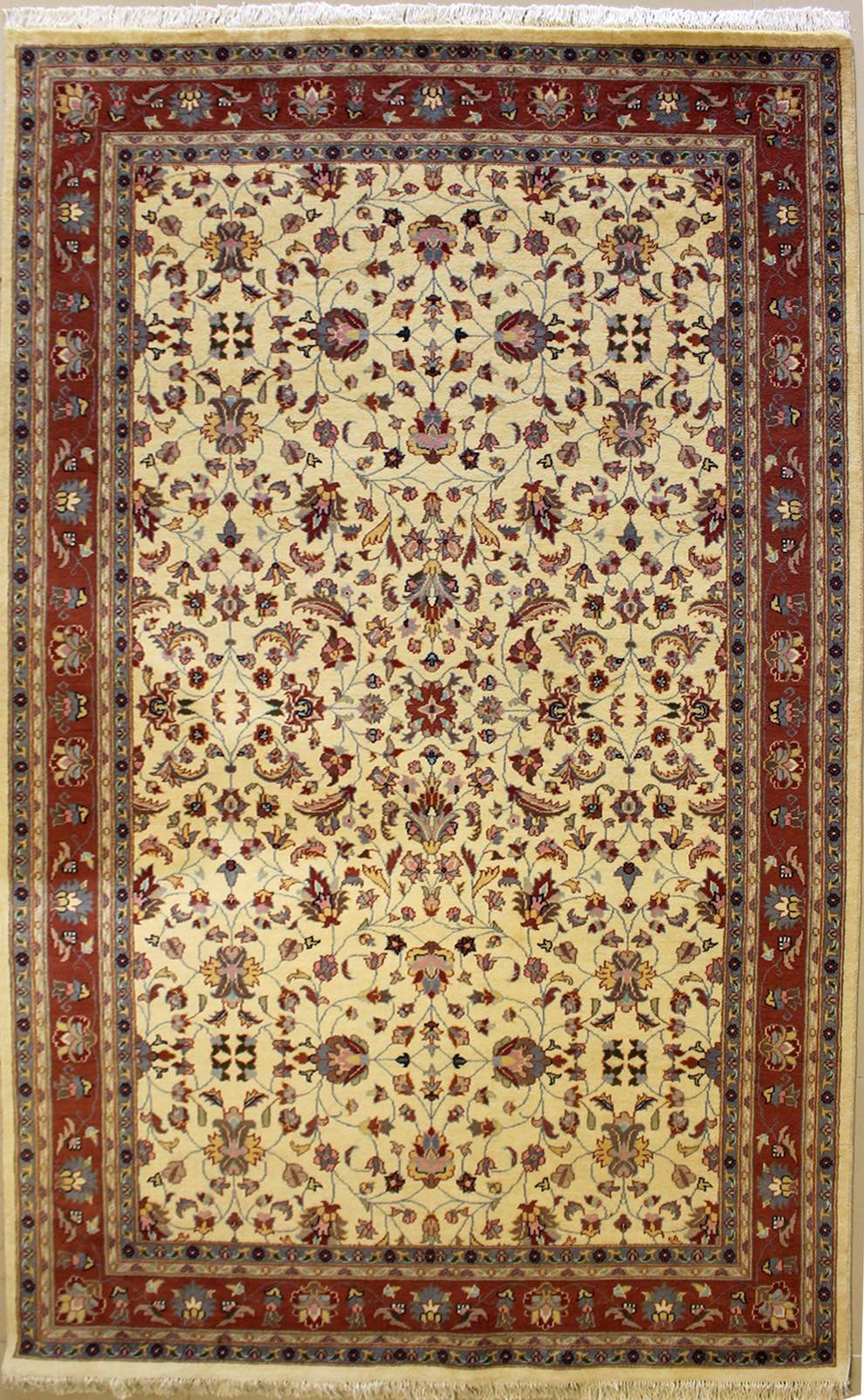 "5'11""x9'3"" Pak Persian Design Ivory, White Color"