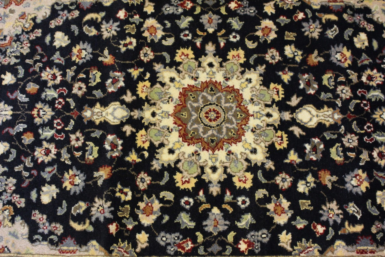 Rugstc 3x5 Senneh Pak Persian Black Area Rug Hand Knotted