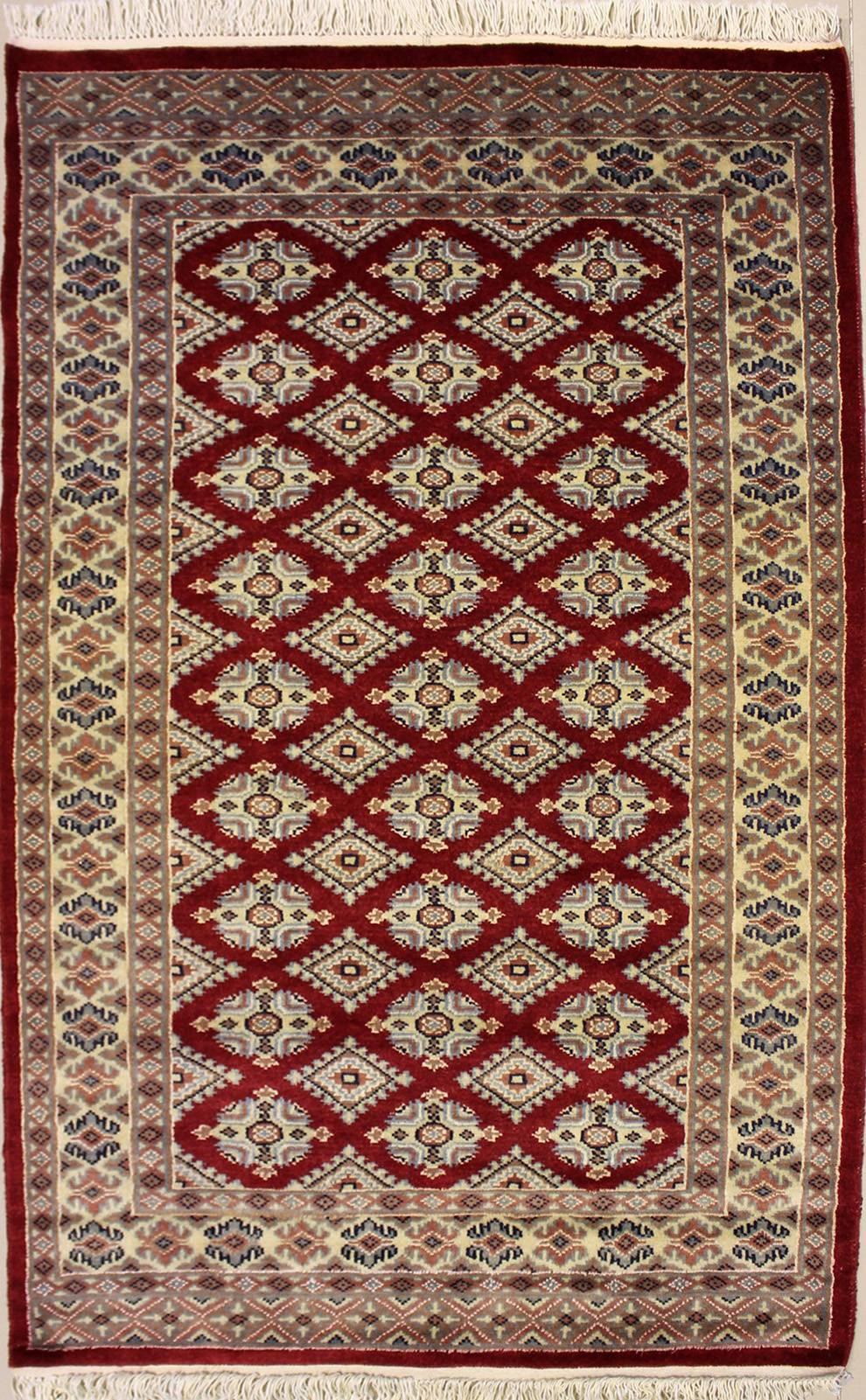"3'1""x5'1"" Pak Jaldar Design Red Color"