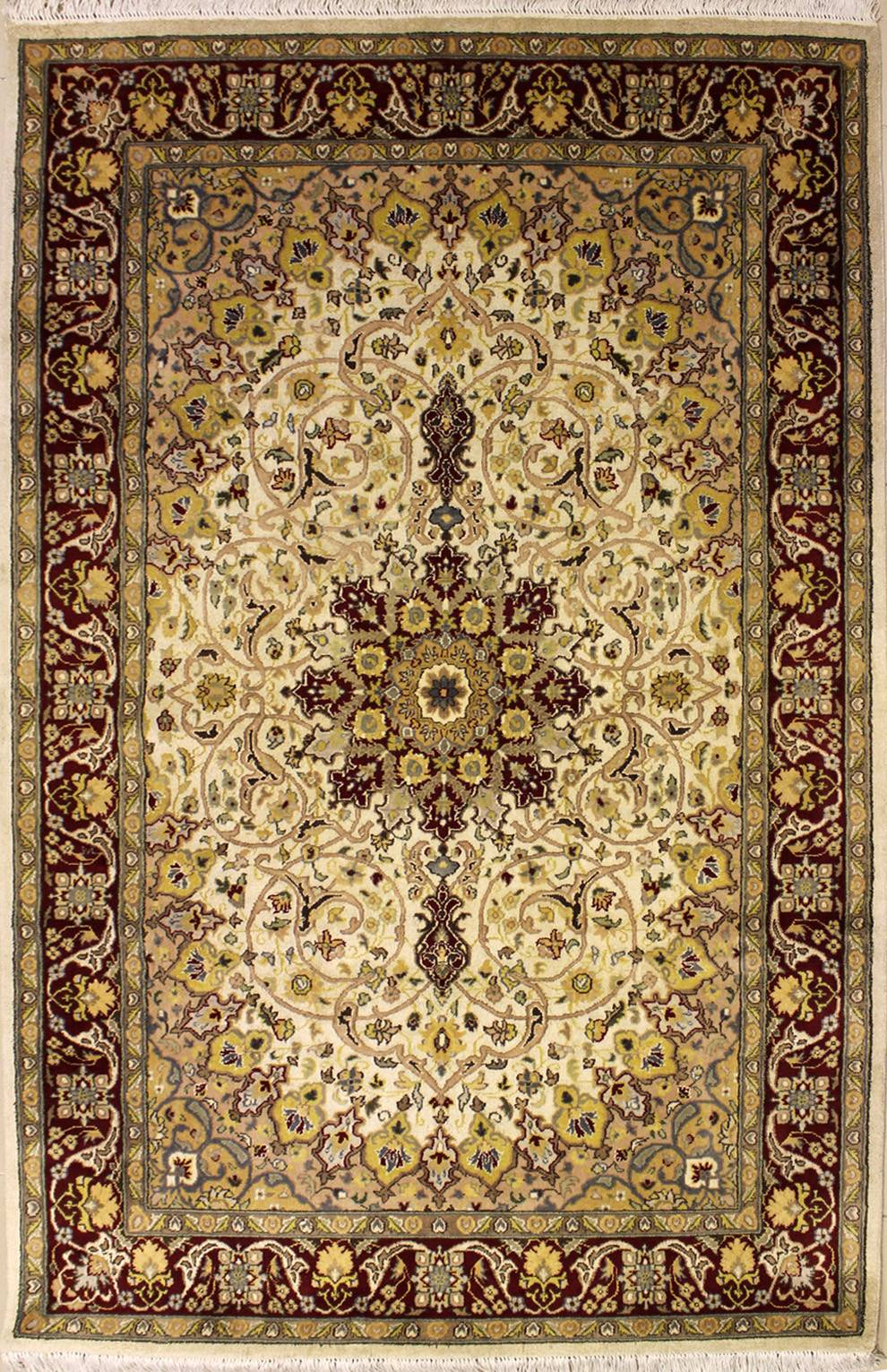 "4'7""x7'2"" Pak Persian Design Ivory, White Color"