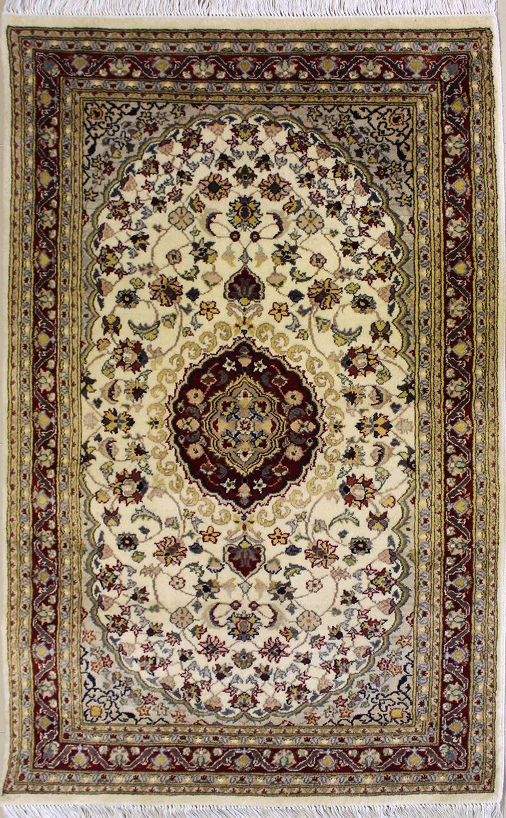"3'0""x5'2"" Pak Persian Design Ivory, White Color"