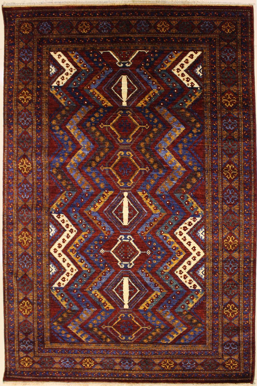 "6'2""x8'11"" Ziegler Chobi Tribal Design Rust Color"