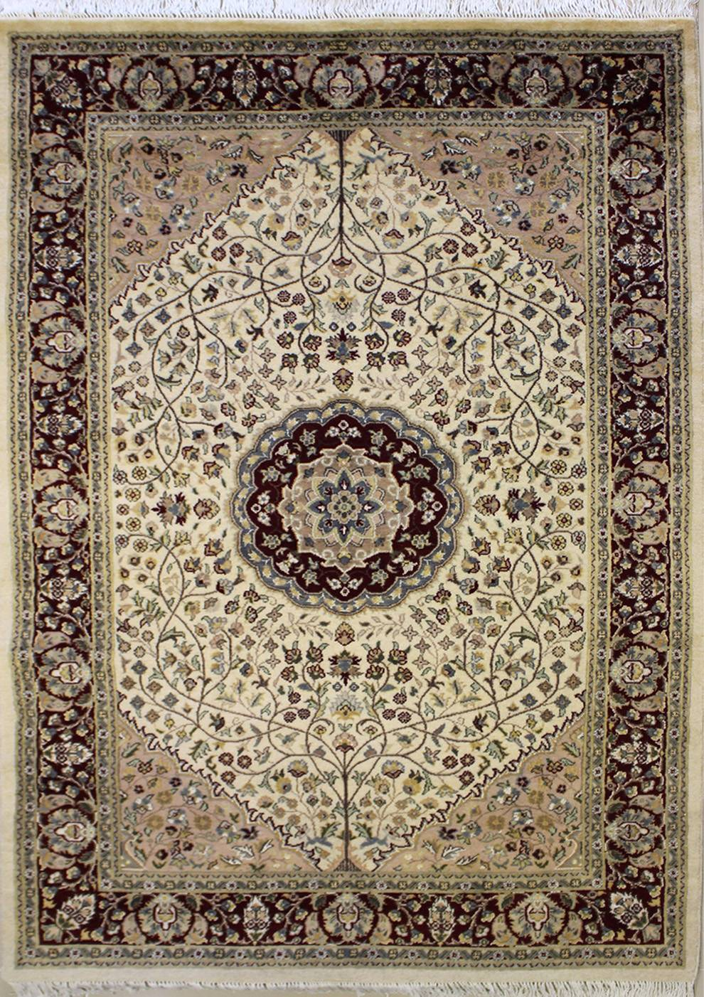 4 6x7 0 Rug Pak Persian Design Ivory White Color