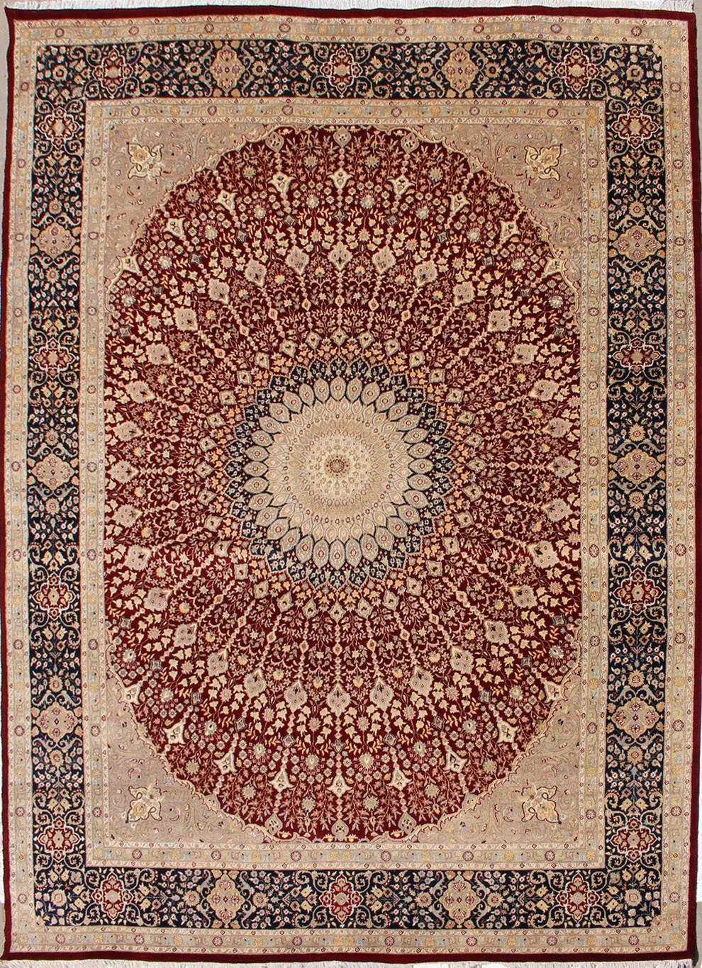 11'9x15'0 Rug - Floral - Handmade Pak Persian High Quality Rugs - a 12x15  Rug size - RugsTC