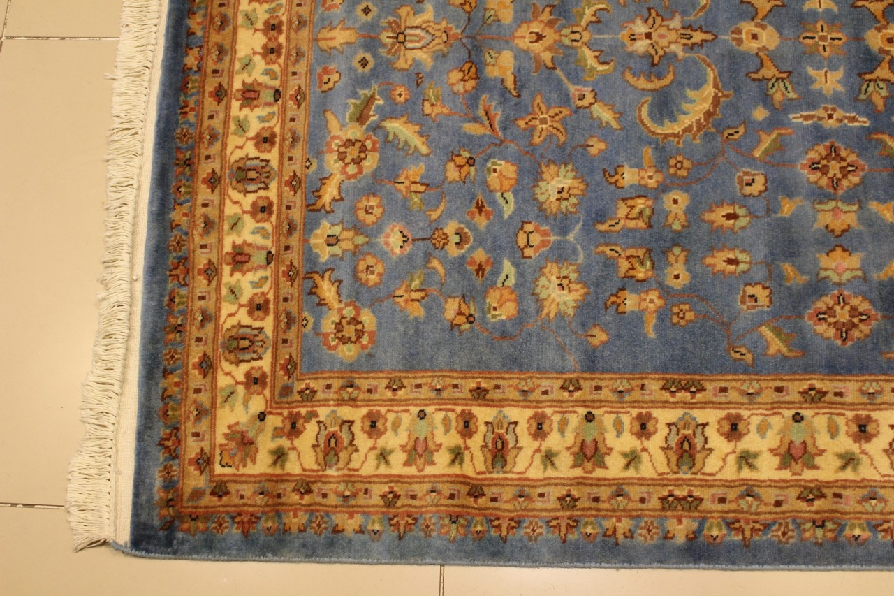 Rugstc 4x6 Pak Persian Blue Area Rug Genuine Hand Knotted
