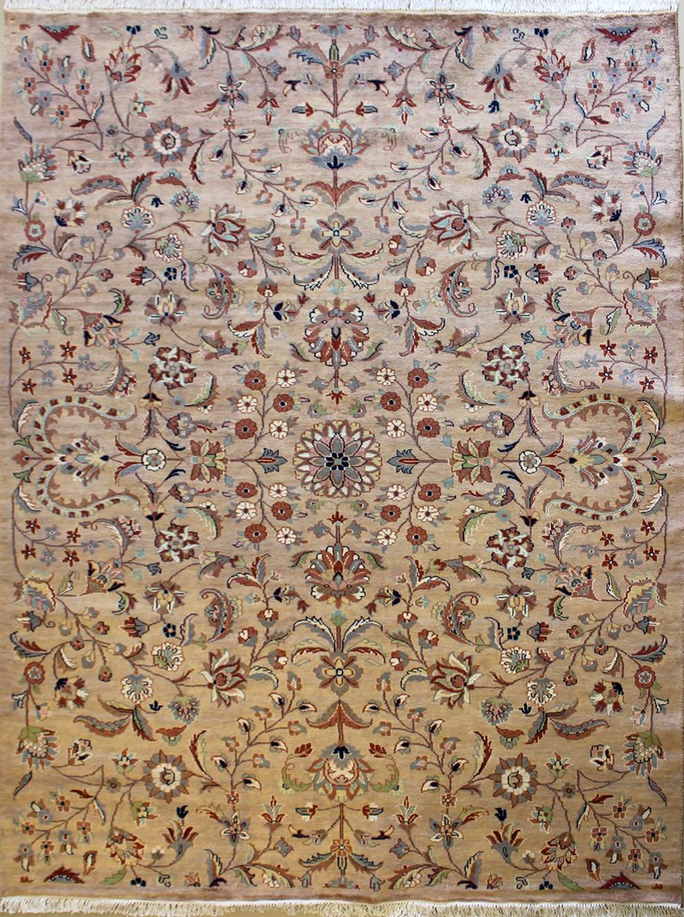 62x88 Rug Floral Handmade Pak Persian Silk And Wool