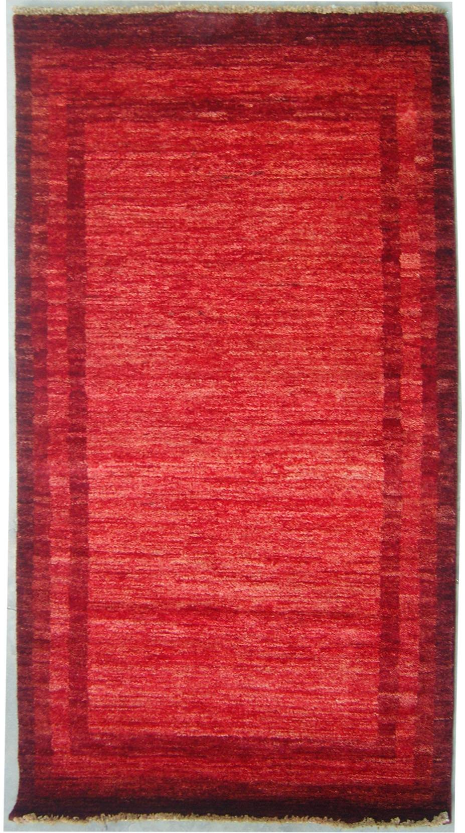 "3'0""x5'1"" Gabbeh Design made with vegetable dyes"