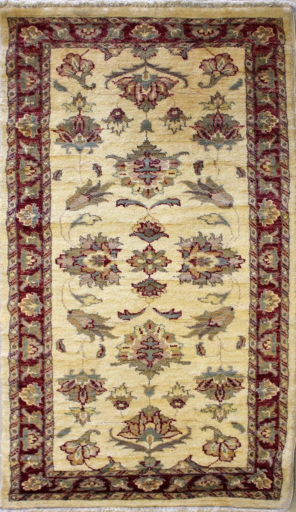 4x4'8 rug - ziegler chobi - handwoven chobi ziegler rugs made with