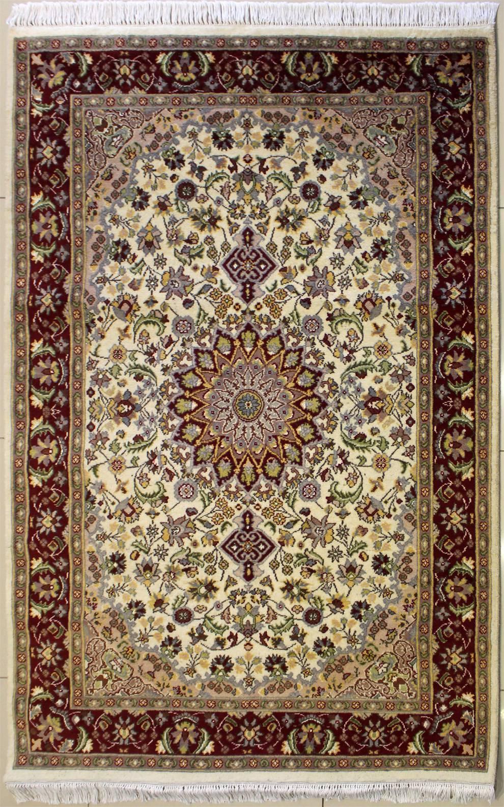 4'1x6'2 Rug - Floral - Handmade Pak Persian High Quality ...