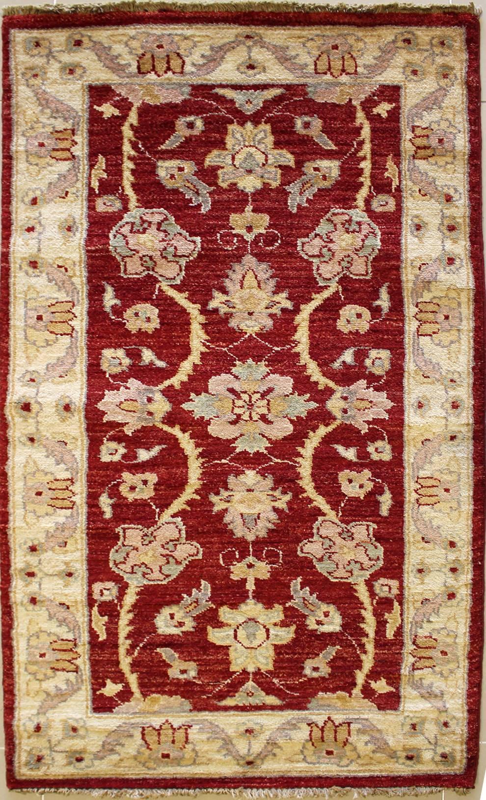4x4'9 rug - ziegler chobi - handwoven chobi ziegler rugs made with